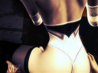 2B fucked on the kitchen counter