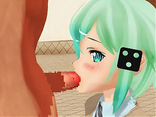MMD Blowjob - Sinon from SAO