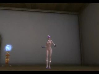 3d aion sexy naked dance