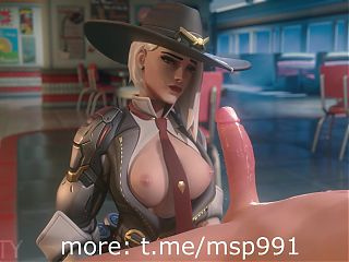 Rule34 Cartoon porn Overwatch Ashe