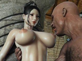 Big Tit 3D Hentai Babe Fucking and Sucking
