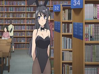 Hentai BunnyGirl in Library