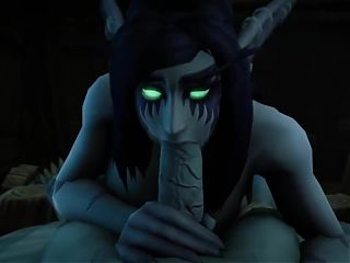 World of Warcraft Undead Bones An Night Elf