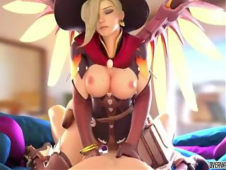 Sexy ass Overwatch babes fucked doggystyle raw and hard